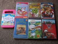 6 CHILDREN'S DVDS & NURSERY SONG CD. TRUMPTON,RUGRATS,DORA,ROOBARB,BASIL BRUSH & DISNEY'S MATER
