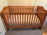 Wooden baby cot, cotbed, crib