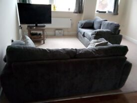 Sofa 3 and 2 seater, grey - £90