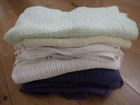 Cot Sheets and Blankets, towels and muslins