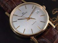 Vintage 9k 9ct 375 solid gold Garrard mens watch
