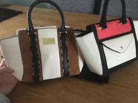 X2 river island girl tote handbags
