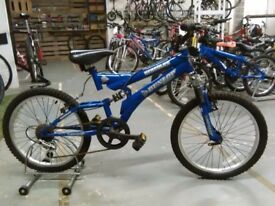 DUNLOP HERCULES BIKE 20 INCH WHEELS FULL SUSPENSION 5 SPEED BLUE GOOD CONDITION CHRISTMAS