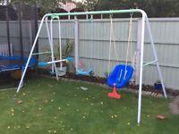 Little tykes slide and swing set