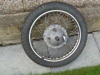 BSA A10 Ariel Full Width Alloy type Rear wheel