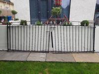 Double wrought iron driveway gates : £150