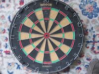 NODOR SUPABULL BRISTLE DART BOARD - EXCELLENT CONDITION suitable for pubs/clubs/home