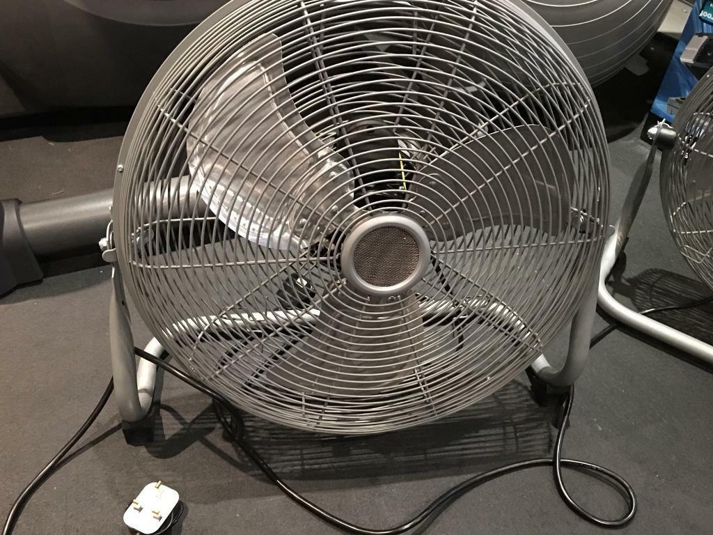 Two 18 inch chrome 3 Speed floor fan
