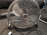 Two 18 inch chrome 3 Speed floor fan