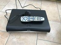 Sky + box with remote and power cable