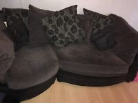 3 seater snuggle sofa, armchair and ottoman