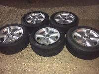 """17"""" Alloy wheels & Pirelli Zero tyres x5"""