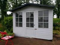 Swiss style garden summerhouse/shed