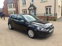 VOLKSWAGEN GOLF 1.6 TDI S BLUEMOTION 2013 12 MONTHS MOT FULL MAIN DEALER SERVICE HISTORY