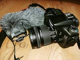 CANON EOS 70D BODY CAMERA plus Lens+micro.