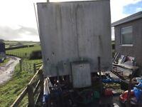 Mobile workshop aluminium box trailer cabin.