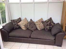 4 seater sofa & arm chair