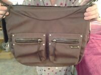 Storksak Baby Brown Changing Bag With Changing Mat-Proceeds To Local Charity