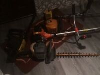 """PETROL CHAINSAW WITH 20""""BAR AND 4 STRIMMERS not Stihl echo ford transit van tools Hilti saw"""