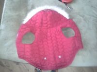 Unused red diamante dog coat