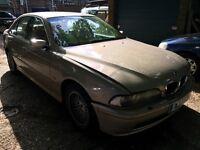 BMW 530D 2926cc Turbo Diesel Automatic 4 door saloon X Reg 02/11/2000 Beige
