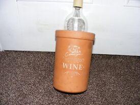 Vintage Terracotta Wine Cooler.