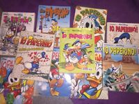 10 Donal Ducks Comic Books written in Italian