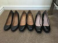 3 pairs shoes. Size 6