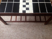 Black and white tiled sofa table (Reduced price)