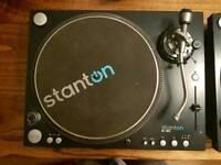 Stanton ST.150 turntables/decks. Pair, boxed