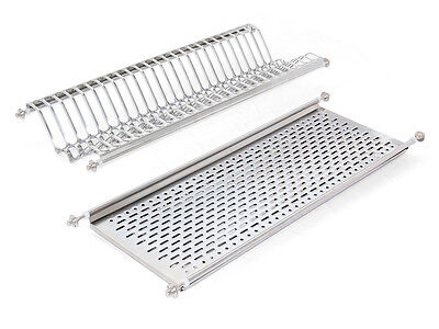 Emuca Stainless Steel Dish Drying Rack for Standard Kitchen Cabinet / - Standard Stainless Dish