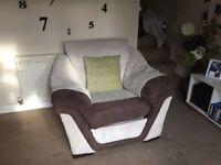 Jumbo cord sofa set