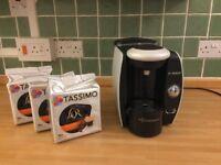 Tassimo Coffee Machine + 3 x capsules pack (48 pods)