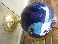 "large gemstone globe 22"" tall"