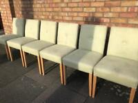 Modern fabric upholstered dining chairs x 6
