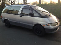 1996 N TOYOTA LUCIDA ESTIMA EMINA 2.2 DIESEL AUTOMATIC - 101K MILES ONLY - SILVER - CLEAN - SUN ROOF
