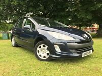 2010 PEUGEOT 308 1.6 PETROL ESTATE ** NEW MOT ** 66000 ** AUTOMATIC **3 MONTHS WARRANTY
