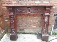 Large Mantelpiece Solid Wood