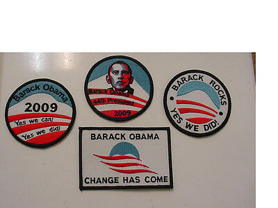 4 Mixed Presidential Barack Obama 44Th President   2009 Patch  Embroidered
