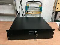 Lockable 3 unit rack drawer