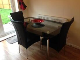 Harvey's Boat Dining Table & Marilyn Chairs