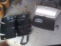 Portable BBQ with carrying case,fuel by gas,carrying case with strap.