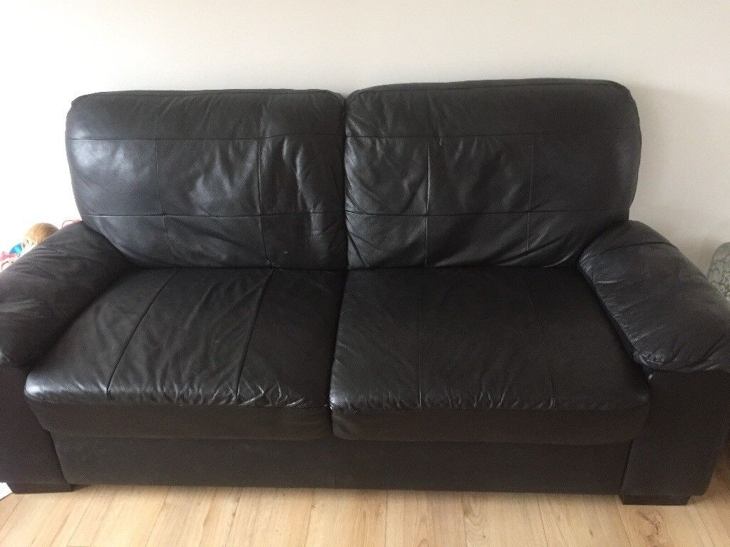 black leather couch. Black Leather Sofas 2x3 Seater Couch