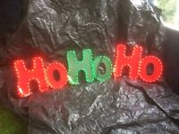 Christmas lights led 'HO HO HO' for in door and out door use