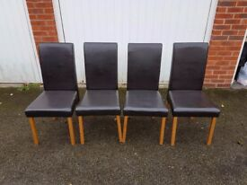 4 Faux Leather Chairs FREE DELIVERY 942