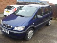 7 seater Vauxhall Zafira mpv people carrier