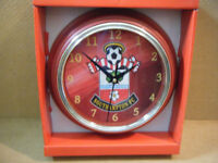 SOUTHAMPTON F.C, Football Quartz clock. New and supplied with battery.