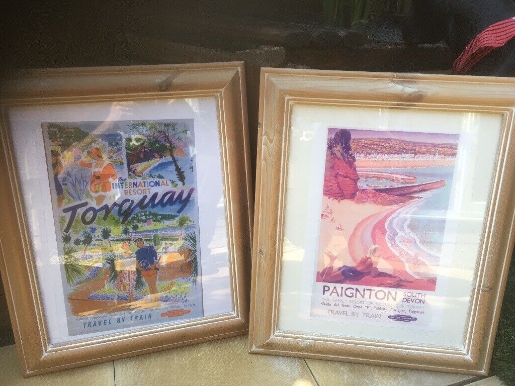 Large frames with vintage advertising posters | in Grange Park ...