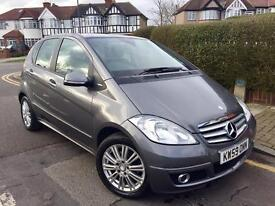 2010 MERCEDES A CLASS A160 AUTO ELEGANCE SE 5DR GREY, 33,000 MLS FMBSH,YEAR MOT,IMMACULATE CONDITION