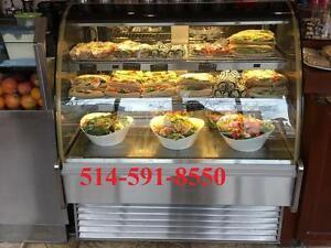 Presentoir Refrigere Vitre Curbee , Dessert Pastry Fridge , Showcase